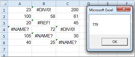 How To Sum Range Of Cells Ignoring Errors In Excel
