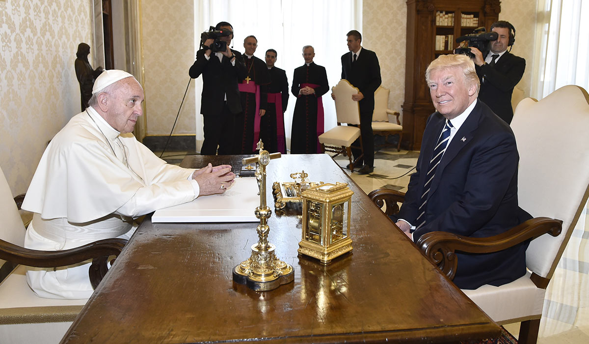 Image result for trump meets pope