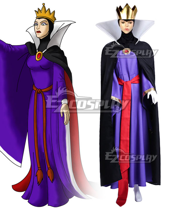 Disney 1937 Movie Snow White and the Seven Dwarfs Evil Queen Cosplay Costume