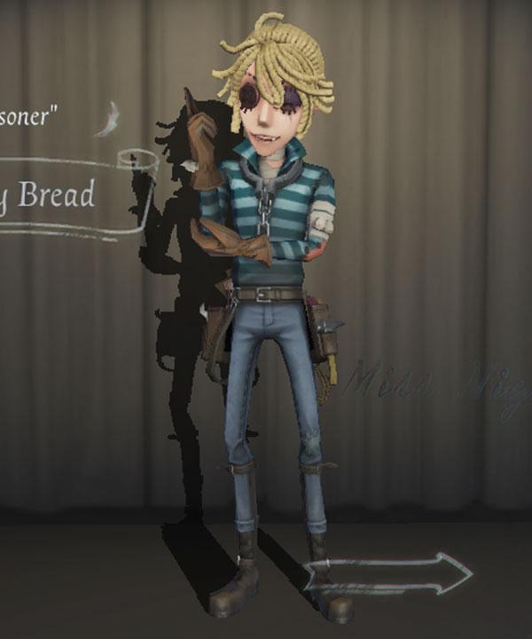 Identity V Prisoner Luca Balsa Moldy Bread Halloween Cosplay Costume