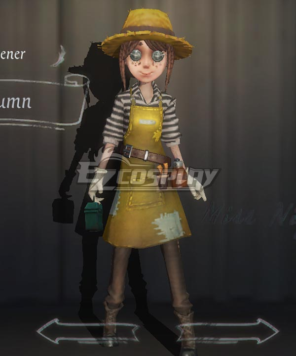 Identity V Gardener Emma Woods Autumn Halloween Cosplay Costume