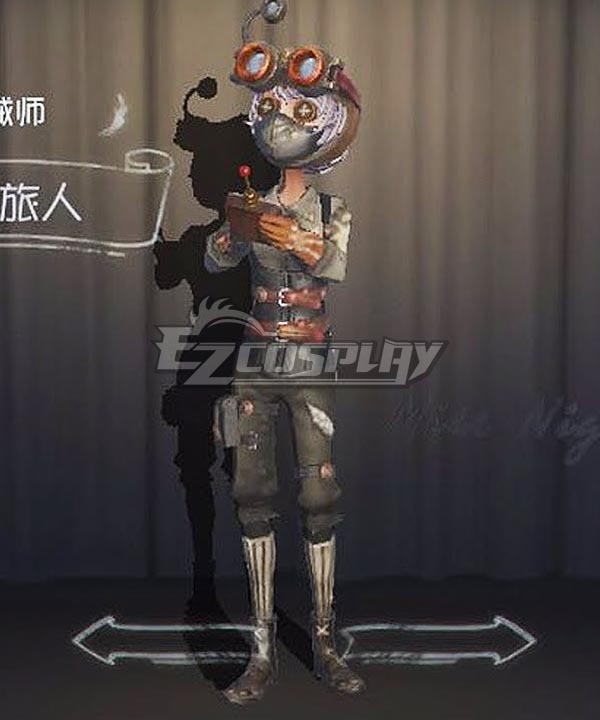 Identity V Mechanic Tracy Reznik Wasteland Traveler Halloween Cosplay Costume