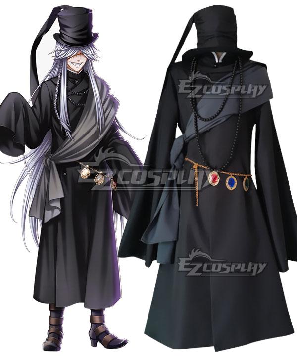 Black Butler Kuroshitsuji Undertaker Grim Reaper Cosplay Costume