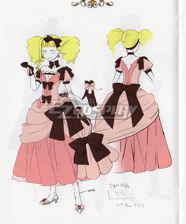 Black Butler Kuroshitsuji OVA Welcome to the Phantomhive's Elizabeth Midford Cosplay Costume
