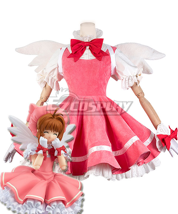 Cardcaptor Sakura: Clear Card Sakura Kinomoto Pink Dress Cosplay Costume - Not included Wing