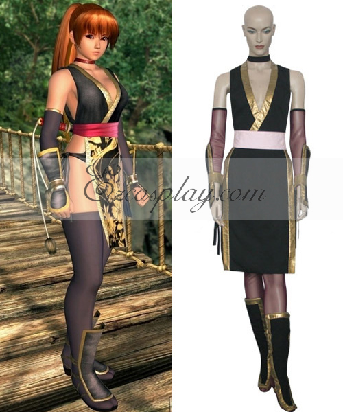 Dead or Alive Kasumi Black Cosplay Costume
