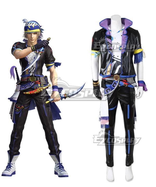 Dissidia Final Fantasy NT Locke Cole Cosplay Costume