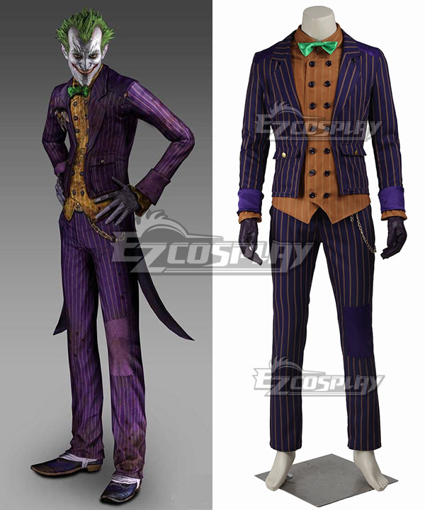 DC Detective Comics Batman Arkham Knight Joker Cosplay Costume