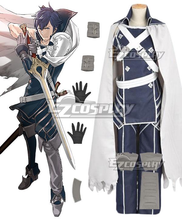 Fire Emblem Awakening Chrom Blue Cosplay Costume
