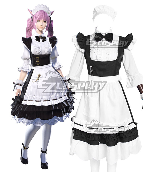 Final Fantasy XIV Housemaid's Apron Dress Cosplay Costume