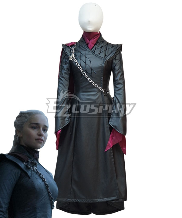 Game Of Thrones Season 8  Mother Of Dragons  Daenerys Targaryen Black Cosplay Costume