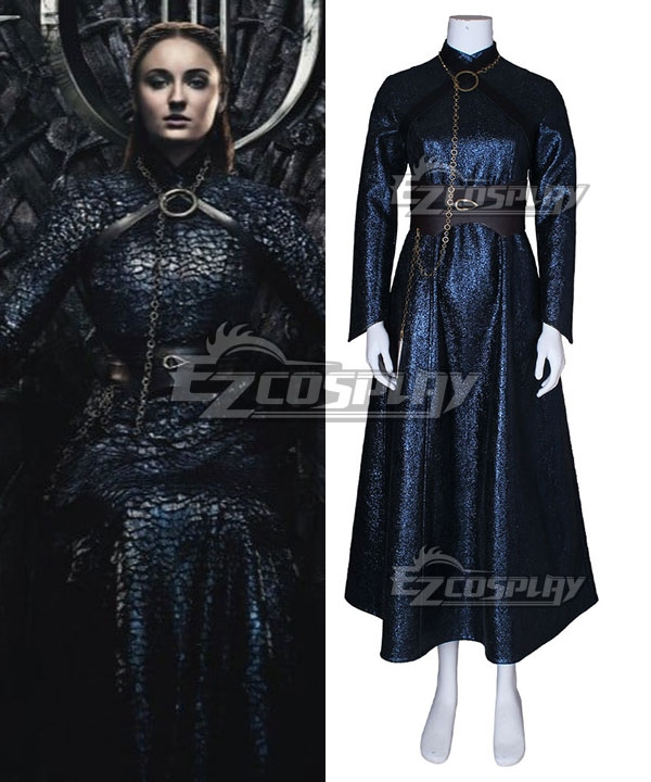 Game Of Thrones Season 8 Sansa Stark B Edition Cosplay Costume