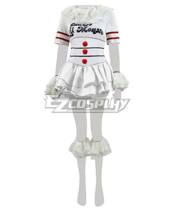 It 2017 Movie Pennywise Halloween Harley Quinn Cosplay Costume