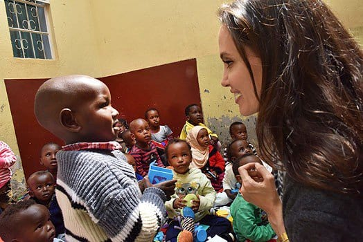 UNHCR Special Envoy Angelina Jolie meets refugee children of refugee families at Heshima Kenya Safe House