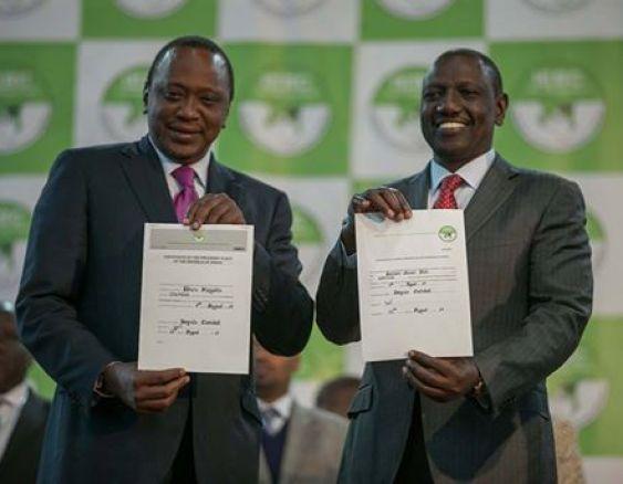 Uhuru Kenyatta and William Ruto