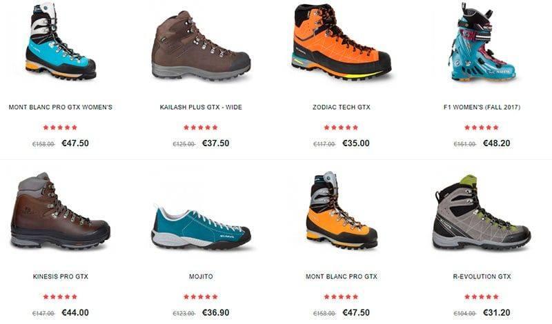 Scarpas.shop Tienda Falsa Alpinismo