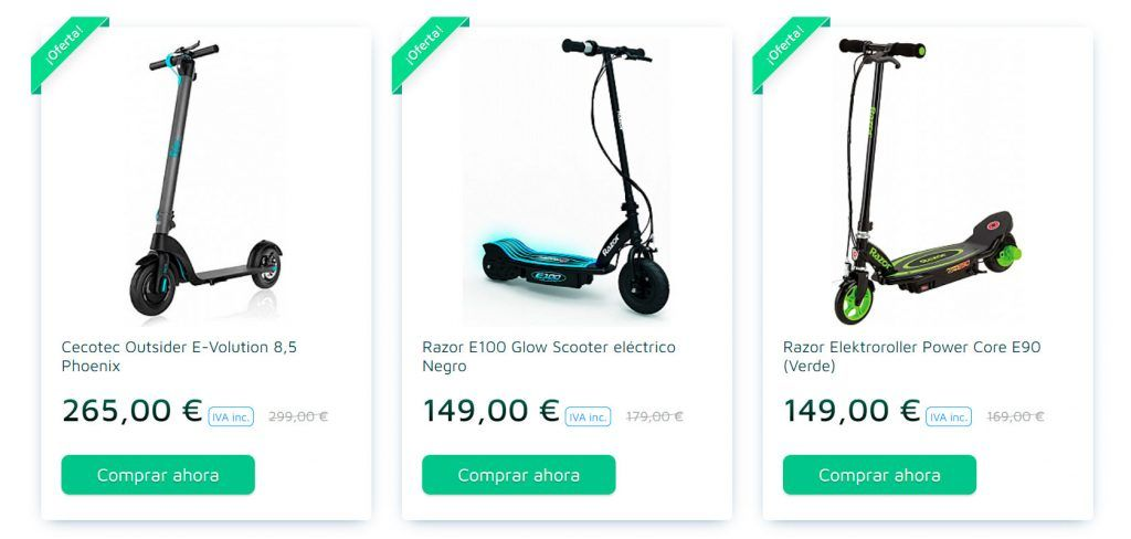 Patinete.eu Online Shop Fake Electric Scooters