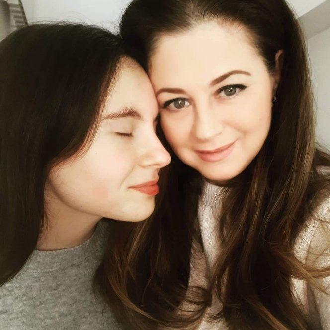 Corina Dănilă și fiica sa, Rianna