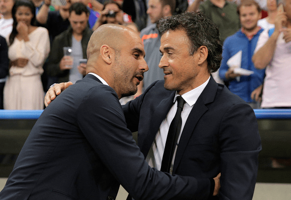 Luis Enrique has the opportunity to replicate Pep Guardiola's feats by winning the treble in his first year as Barcelona coach.