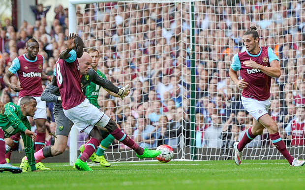 Barclays Premier League 2015/16 West Ham United v Norwich City Upton Park, Green St, Upton Park, London, United Kingdom - 26 Sep 2015