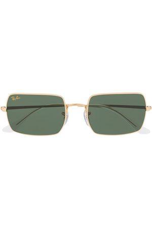 lunettes de soleil a monture rectangulaire