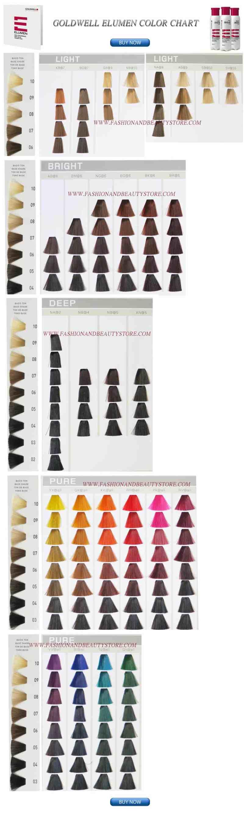 Elumen Color Chart Coloringsite