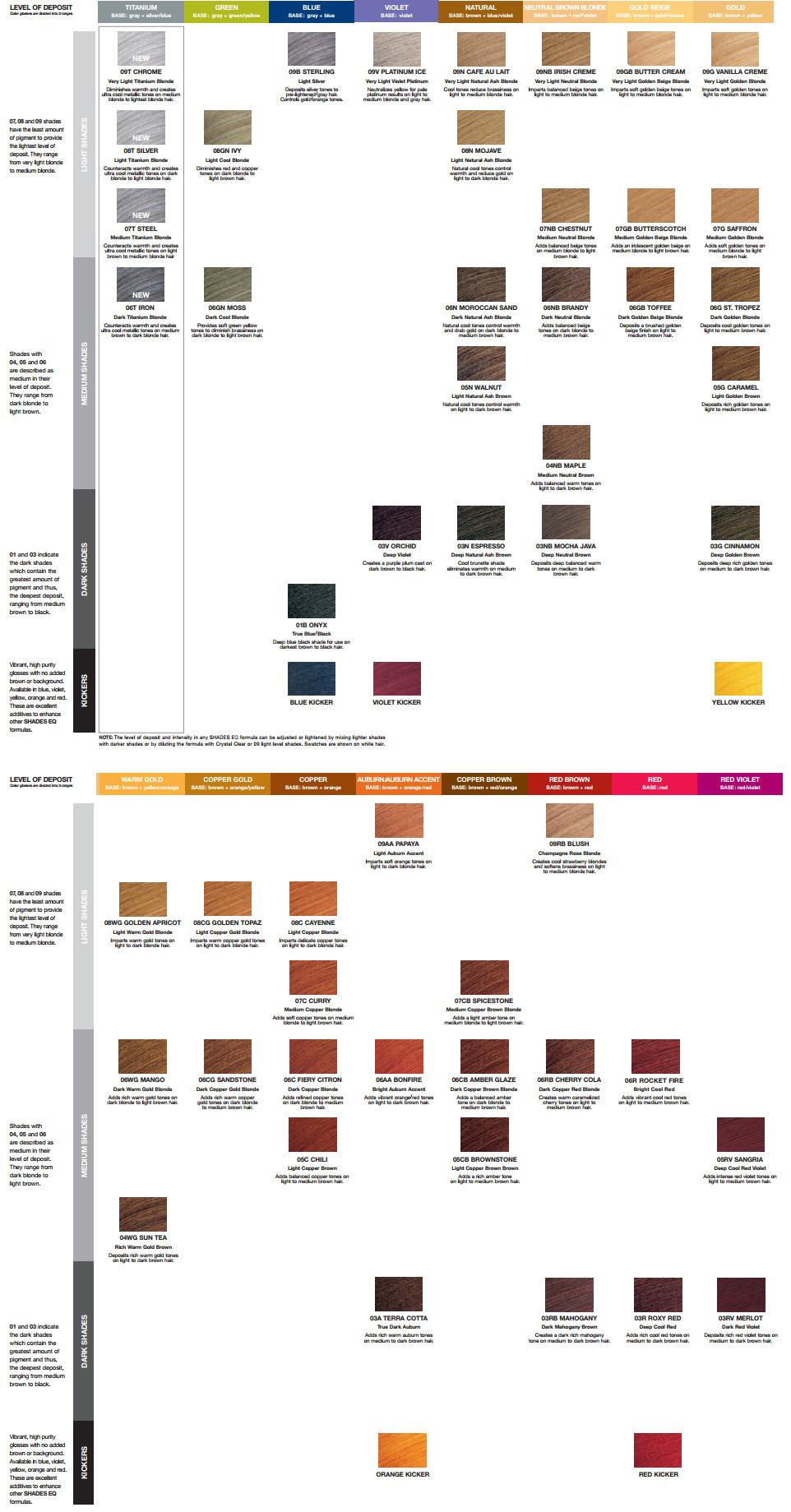 Book Of Color Shades Eq