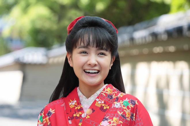 NHK連続テレビ小説「わろてんか」ヒロインの藤岡てんを演じる葵わかな
