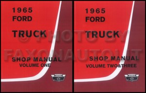 1965 Ford F100 F250 F350 Pickup Truck Owner's Manual Reprint