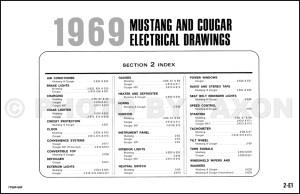 1969 Ford Mustang Mercury Cougar ORIGINAL Wiring Diagram