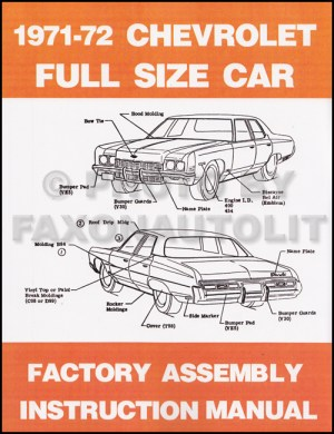 1972 Chevy Car Wiring Diagram Reprint Impala Caprice Bel