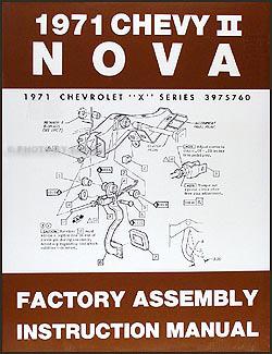 1971 Chevy Nova Wiring Diagram Manual Reprint