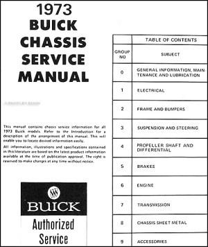 1973 Buick Shop Manual CD 73 Regal Century Centurion