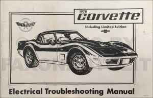 1978 Chevy Repair Shop Manual Original Camaro Chevelle El