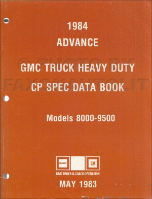 1984 GMC Medium and Heavy Duty Truck Overhaul Manual Original