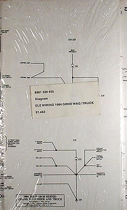 1984 Jeep Grand Wagoneer & JTruck Original Wiring Diagram