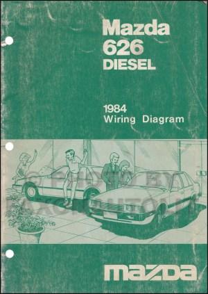 1984 Mazda 626 Repair Shop Manual Original