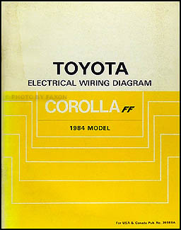 1984 Toyota Corolla FWD Wiring Diagram Manual Original