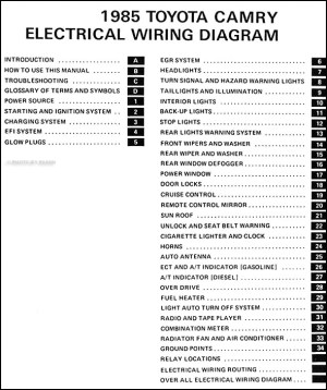 1985 Toyota Camry Wiring Diagram Manual Original