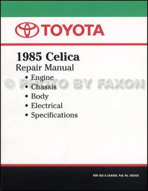 1985 Toyota Celica Repair Shop Manual Original