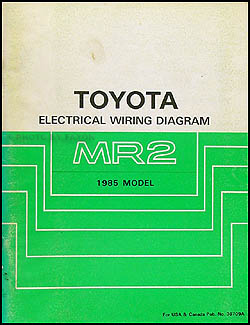 1985 Toyota MR2 Wiring Diagram Manual Original