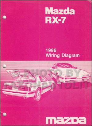 1986 Mazda RX7 Wiring Diagram Manual Original RX7