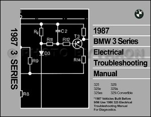 1987 BMW 325 Electrical Troubleshooting Manual 325i 325e