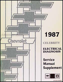 1987 Chevy Celebrity Electrical Manual Wiring Diagrams | eBay