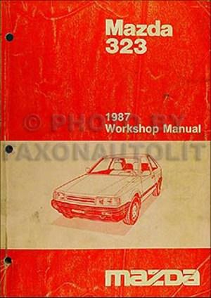 1987 Mazda 323 Repair Shop Manual Original