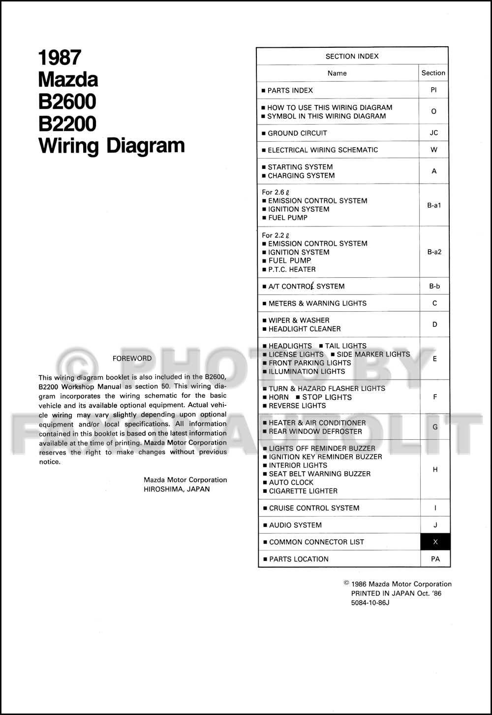 [SCHEMATICS_4JK]  AB6927 Mazda B2200 Spark Plug Wiring Diagram | Wiring Resources | Mazda B2200 Engine Wiring |  | Wiring Resources