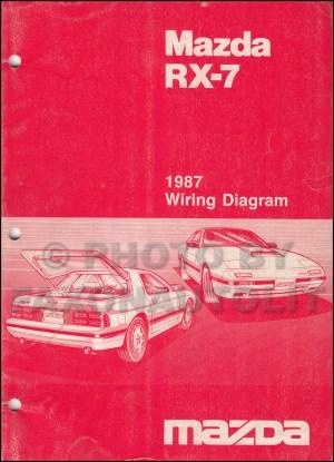 1987 Mazda RX7 Wiring Diagram Manual Original RX7