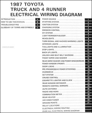 1987 Toyota Truck & 4Runner Wiring Diagram Manual Original