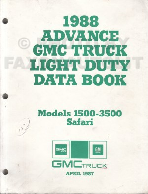 1988 ChevyGMC RV Wiring Diagram Suburban, Blazer, Jimmy, RV Pickup