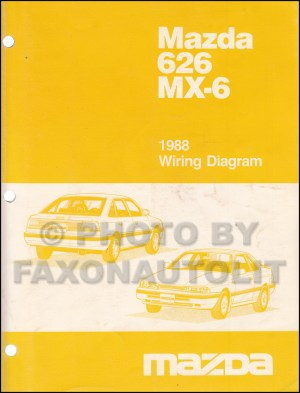 1988 Mazda 626 and MX6 Wiring Diagram Manual Original
